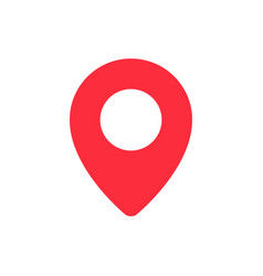red location pin vector image