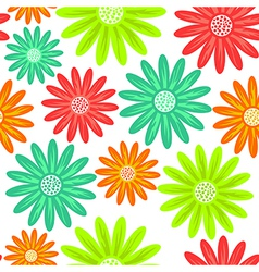 Seamless pattern with flowers endless floral vector