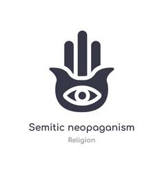 Semitic neopaganism icon isolated vector
