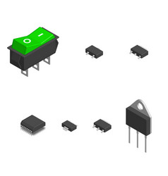 Set different electronic components in 3d vector