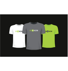 set of three t-shirts vector image