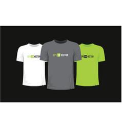 Set three t-shirts vector