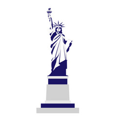 silhouette of the statue of liberty vector image