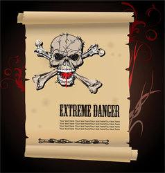 skull extreme danger vector image vector image