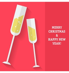 Sparkling Wine Christmas vector image