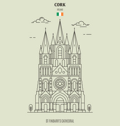 st finbarrs cathedral in cork vector image