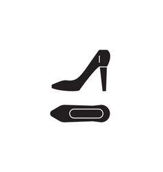 stilettos black concept icon stilettos vector image
