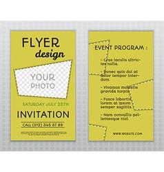 Summer yellow stylish flyer and brochure vector