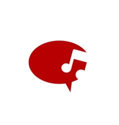 Talk music icon key note theme logo template vector