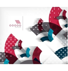 Technology geometric shape abstract background vector