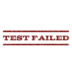 Test Failed Watermark Stamp vector