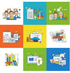 training education project planning and teamwork vector image