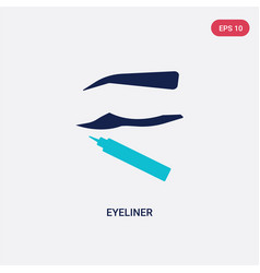 two color eyeliner icon from beauty concept vector image