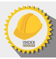 Under construction graphic advertising vector