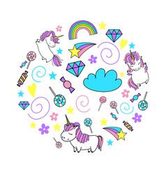 unicorn cute vector image