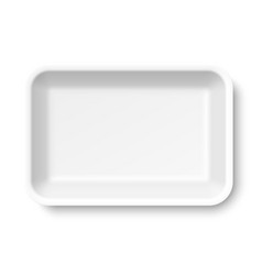 White empty styrofoam food tray vector