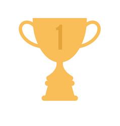 winner cup flat icon golden symbol of win vector image