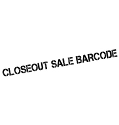 Closeout Sale Barcode rubber stamp vector image vector image