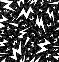 Retro shape seamless pattern in black and white vector image