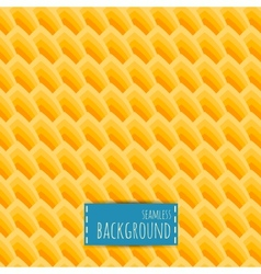 Yellow seamless pattern honeycomb background vector image vector image