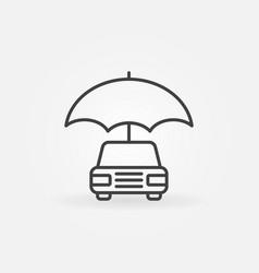 car with umbrella icon vector image vector image