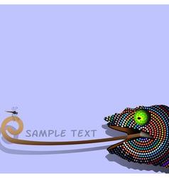 Chameleon 2 vector image vector image