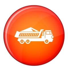 Dump track icon flat style vector image vector image