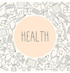 Medical background Health vector image