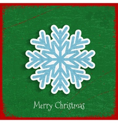 Paper snowflake on Christmas vintage background vector image vector image