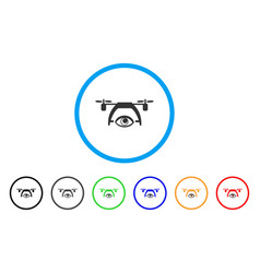 video spy drone rounded icon vector image