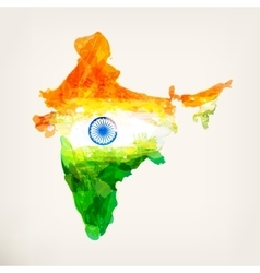 Watercolor indian map vector image