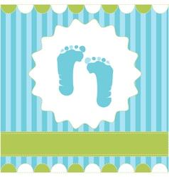 Footprint of boy vector