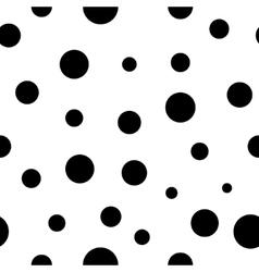 Polka dot black seamless pattern vector