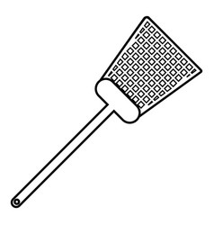 swatter icon outline line style vector image vector image