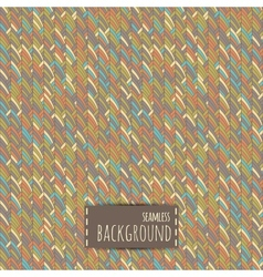Colorful seamless background with geometric vector image vector image