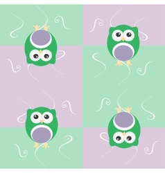 Cute seamless owl background patten for baby kids vector image