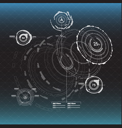 infographic elements head-up display elements for vector image vector image