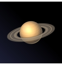 Saturn Planet Icon Isolated on Dark Background vector image vector image