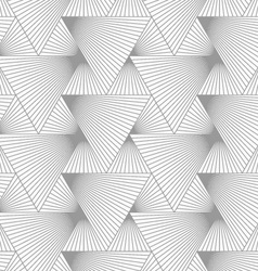 Slim gray hatched big and small triangles vector image