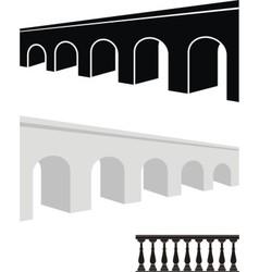 stone bridge and balustrade vector image vector image