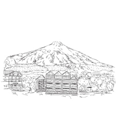 The House in the Mountains vector image vector image