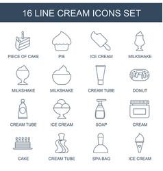16 cream icons vector