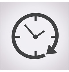 24 hour clock icon vector image