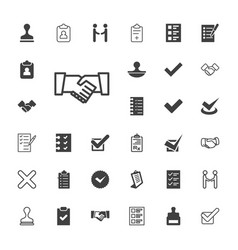 33 agreement icons vector