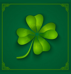 3d clover on green background vector