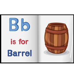 A picture of barrel in book vector