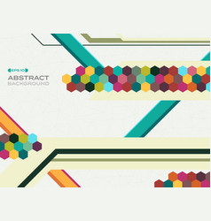 abstract of colorful geometrical shape pattern vector image