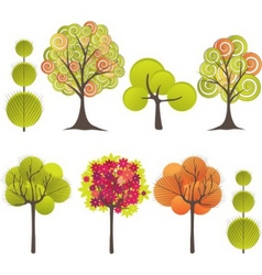 abstract tree vector illustration vector image