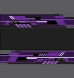 Abstract violet black futuristic technology vector