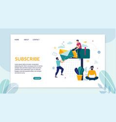 Advertising flyer inscription subscription flat vector